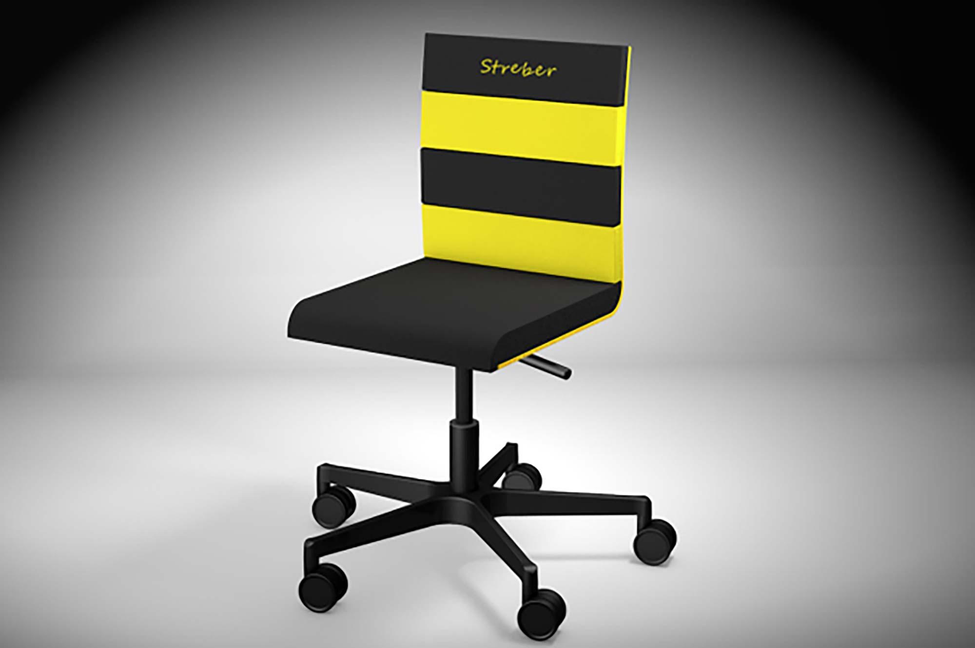 Produktdesign bvb kinder schreibtischstuhl sitting cool for Produktdesign schule
